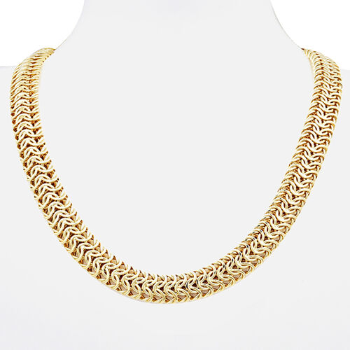 Italian Made - 9K Yellow Gold Fancy Link Necklace (Size 22), Gold wt 42.73 Gms