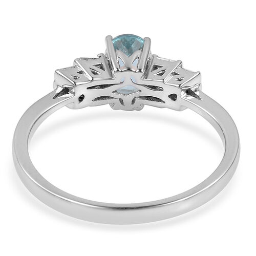Signature Collection- ILIANA 18K White Gold AAA Paraiba Tourmaline (Ovl), Diamond (SI/G-H) Ring 1.010 Ct.