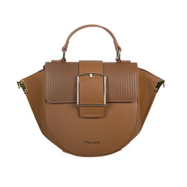 Bulaggi Collection Delphinium Boat-Shape Crossbody Bag in Camel Colour