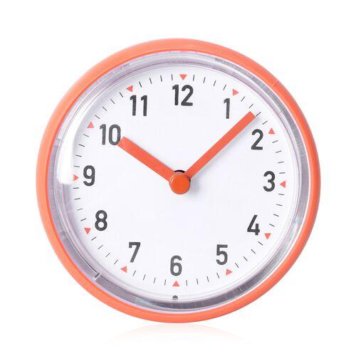 Petite Shape Wall Clock Orange Colour