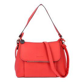 SENCILLEZ Shungite Zipper Closure Satchel Bag with Detachable Shoulder Strap (Size 30x12x22 Cm) - Re