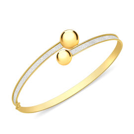 Stardust Torque Bangle in 9K Yellow Gold 7 Inch