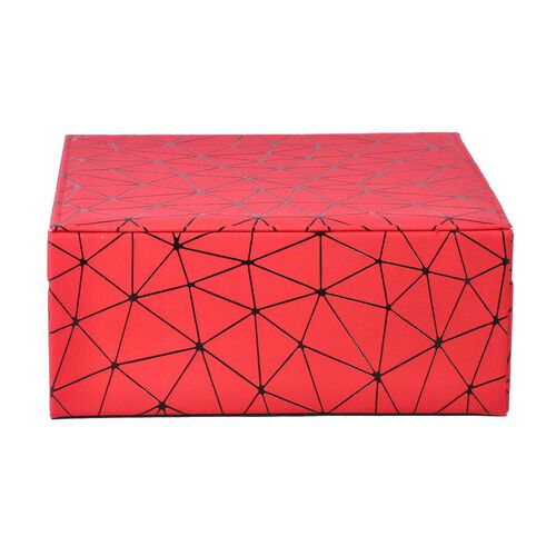 Spider Web Pattern 2-Layer Jewellery Box in Red and Black