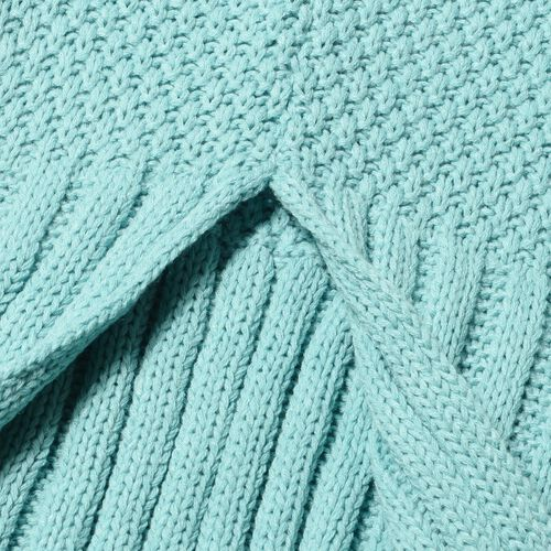 Blue Mermaid Tail Blanket (One Size- Large)