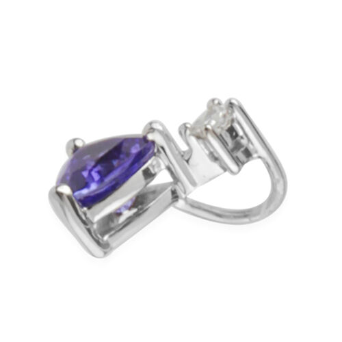 RHAPSODY 950 Platinum AAAA Tanzanite (Trl), Diamond (VS/E-F) Pendant 0.910 Ct.