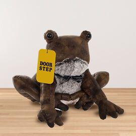Lesser & Pavey - Faux Leather Frog Doorstop in Brown (Size 30x22.6x20 Cm)