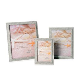 Set of 3  - Different Size Photo Frame (Size 4x6, 6x8 and 8x10 Cm) - Grey