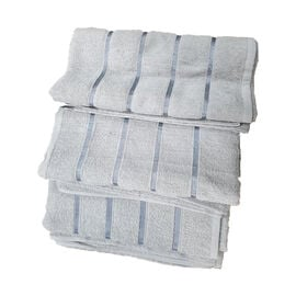 3 Piece Set 100% Combed Cotton Full Size Bath Sheets - Silver (93 x 138 cm)