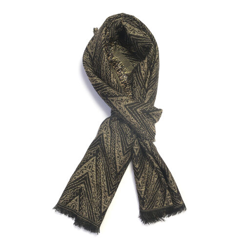 Grey and Black Colour Lurex scarf (Size 185x70 Cm)