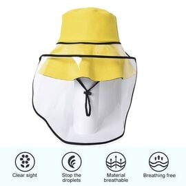 Bucket Protection Hat with Detachable Safety Protective Face Eye Shield Screen (Perimeter: 57Cm) - Y