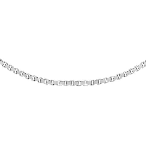 ILIANA 18K White Gold 19 Venetian Box Chain (Size 20)