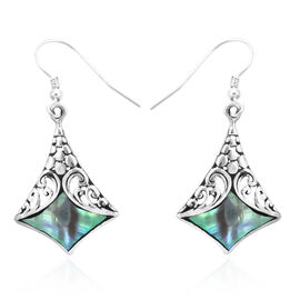 Royal Bali Abalone Shell Drop Hook Earrings in Sterling Silver