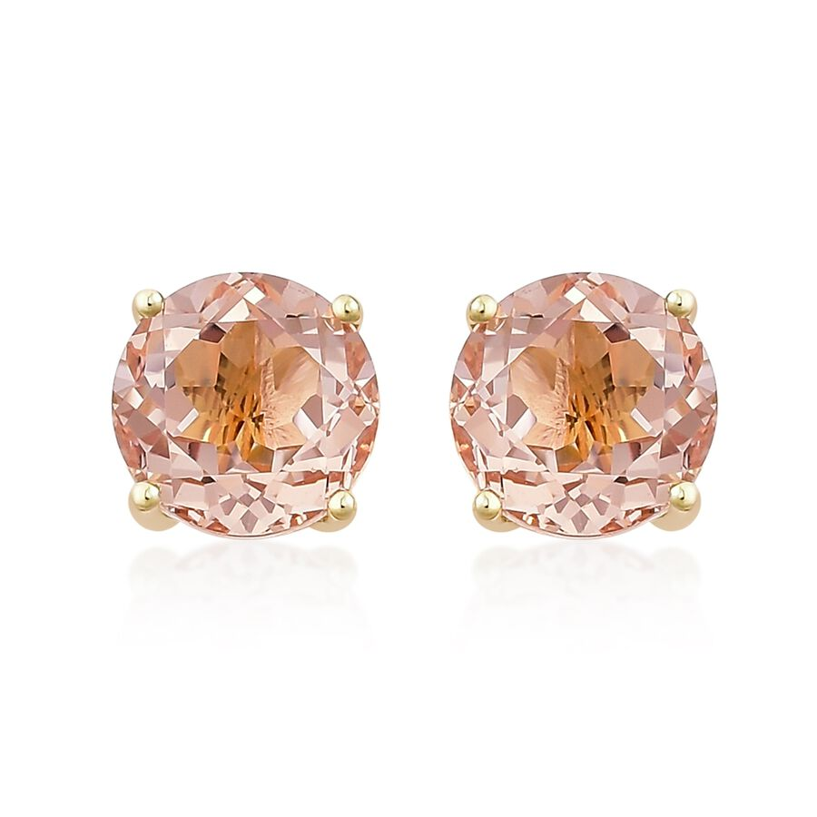 stud coloured rose morganite earrings diamond image stone gold jewellery