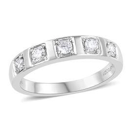 RHAPSODY 950 Platinum IGI CERTIFIED Diamond (Rnd) (VS / E-F) Band Ring 0.330 Ct, Platinum wt 5.91 Gm