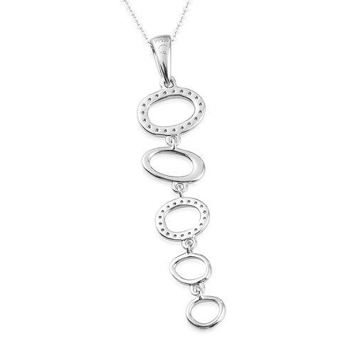 RACHEL GALLEY 950 Platinum IGI Certified Natural Diamond (VS/E-F) Pendant with Chain (Size 18) 0.25 Ct, Platinum wt 4.29 Gms