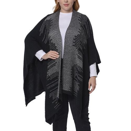 Italian Close Out- Black Colour Kimono (Size 118x60 Cm)