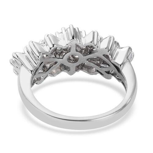 Limited Edition- RHAPSODY 950 Platinum IGI CERTIFIED Natural Diamond (VS/E-F) Ring 1.00 Ct., Platinum wt. 6.00 Gms