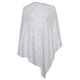 Kris Ana Paisley Scatter Poncho One Size (8-20) - Light Grey