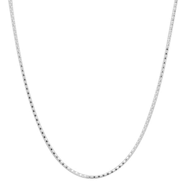Sterling Silver Magnetic Heart Popcorn Necklace (Size 17)