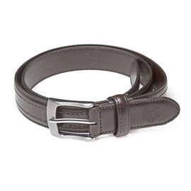 William Hunt - Leather Reversible Belt (size 34 inches) - Brown