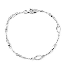 LucyQ - Drop Bracelet (Size 7.5) in Rhodium Overlay Sterling Silver