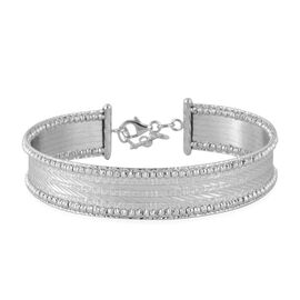 Italian Made 9K White Gold Bangle (Size 7 and 1 inch Extender), Gold wt 11.03 Gms.