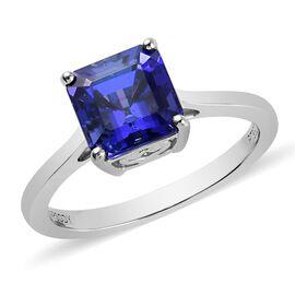 RHAPSODY 2 Carat AAAA Tanzanite Solitaire Ring in 950 Platinum 3.86 Grams