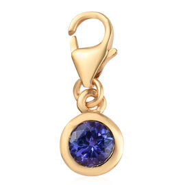 Tanzanite (Rnd) Charm in 14K Gold Overlay Sterling Silver 0.50 Ct.