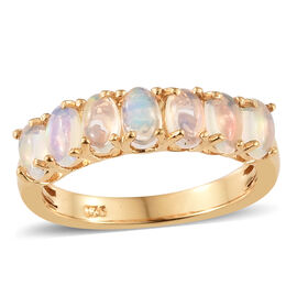 Ethiopian Welo Opal (Ovl) Ring in 14K Gold Overlay Sterling Silver 1.000 Ct.