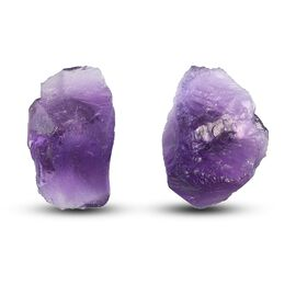 Amethyst Earrings (with Push Back) in Platinum Overlay Sterling Silver 12.00 CT.