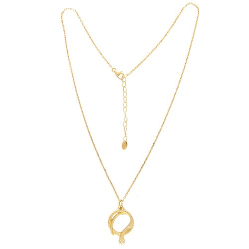 Viale Argento Serpent Necklace (Size 20 with Ext.) in Yellow Gold Overlay Sterling Silver