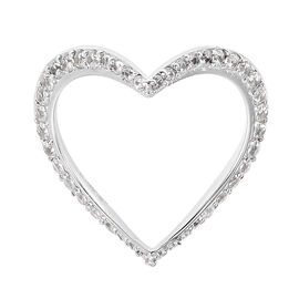Isabella Liu Twilight Zircon Heart Ring in Rhodium Plated Silver