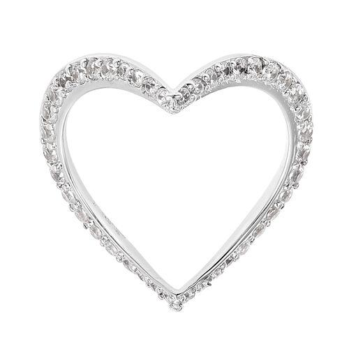 Isabella Liu Twilight Zircon Heart Ring in Rhodium Plated Silver