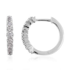 RHAPSODY 950 Platinum IGI Certified Diamond (Rnd) (VS / F) Hoop Earrings (with Clasp) 0.50 Ct.