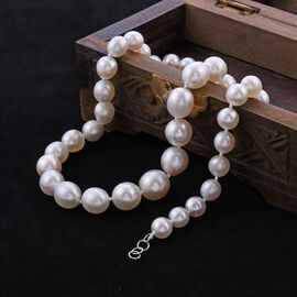 RHAPSODY 950 Platinum AAAA White South Sea Pearl (Rnd 8-15mm) Necklace (Size 20)