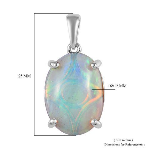RHAPSODY 950 Platinum AAAA Ethiopian Welo Opal Pendant 5.40 Ct.