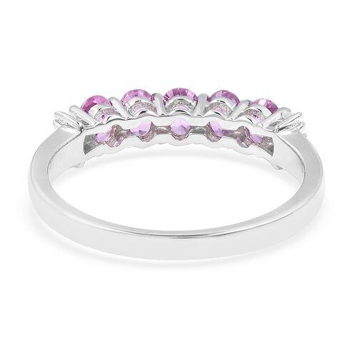 Manhattan Close Out 14K White Gold AA Pink Sapphire (Ovl) Diamond Ring 1.030 Ct.