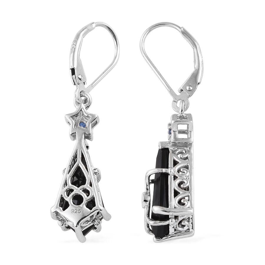 tourmaline  kanchanaburi blue sapphire earrings in