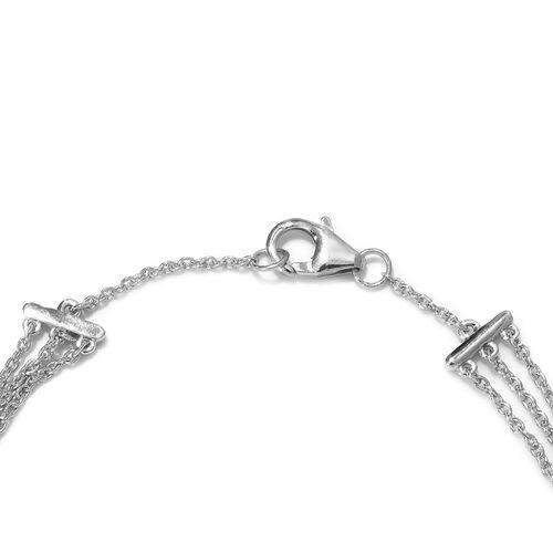 Diamond (Rnd) Bracelet (Size 7.5) in Platinum Overlay Sterling Silver 1.00 Ct, Silver wt 7.80 Gms
