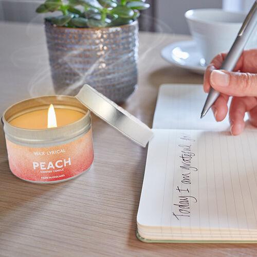 Wax Lyrical Peach Tin Candle (Upto 20 hours)
