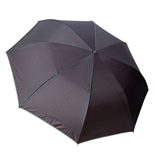 Red and Black Colour Auto Open and Close Tri-Fold Umbrella with  LED Light on handle (Size 80.5 Cm)