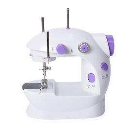 Multifunction Portable Mini Double Thread Sewing Machine (Includes  1 x needle, 1 x needle threader,