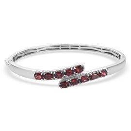 Designer Inspired - Red Garnet Bangle (Size 7.5) 5.930 Ct.