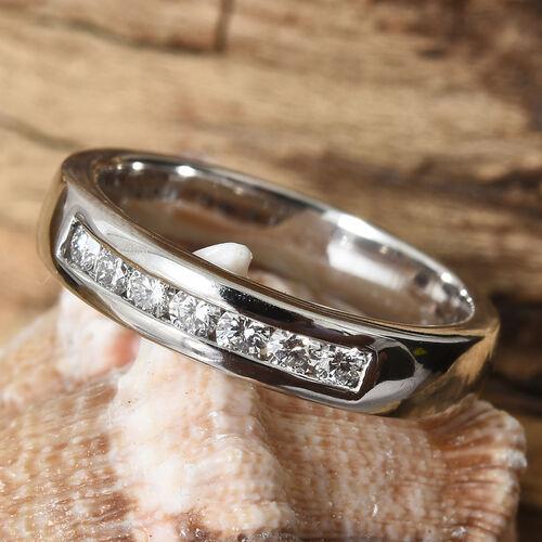 RHAPSODY 950 Platinum IGI Certified Diamond (Rnd) (VS/E-F) Half Eternity Band Ring 0.250 Ct., Platinum wt 7.13 Gms.