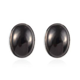 Elite Shungite Stud Earrings (with Push Back) in Sterling Silver 7.66 Ct.