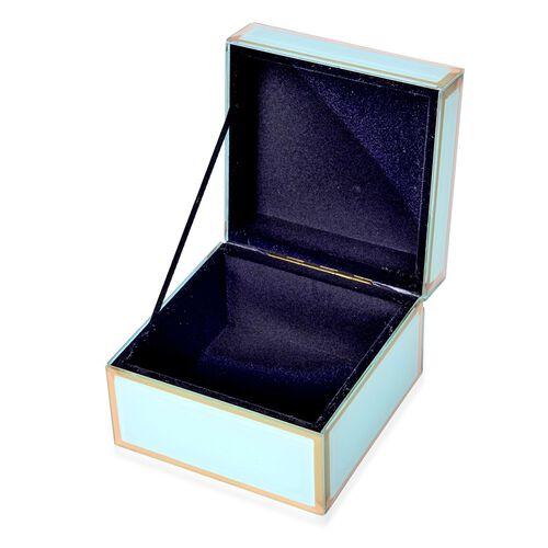 Home Decor - Green Colour Glass Box (Size 12X12X8.5 Cm)