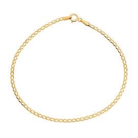 9K Yellow Gold  Flat Curb Bracelet (Size 7.25 ),  Gold Wt. 0.94 Gms
