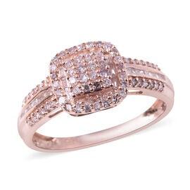 9K Rose Gold Natural Pink Diamond (Rnd), Diamond Ring 0.500 Ct.