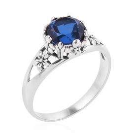 Royal Bali Collection Ceylon Colour Quartz (Rnd) Floral Ring in Sterling Silver 2.010 Ct.