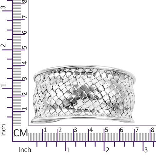 Royal Bali Collection Sterling Silver Cuff Bangle (Size 7.5), Silver wt 42.00 Gms